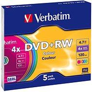 Verbatim DVD+RW 4x, COLOURS 5ks v SLIM krabičce - Média