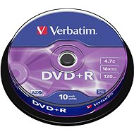 Verbatim DVD+R 16x, 10ks cakebox - Média