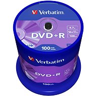 Verbatim DVD+R 16x, 100ks cakebox - Média