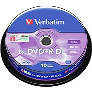 VERBATIM DVD+R DL AZO 8.5GB, 8x, spindle 10 ks - Média