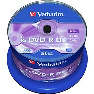 VERBATIM DVD+R DL AZO 8.5GB, 8x, spindle 50 ks - Média