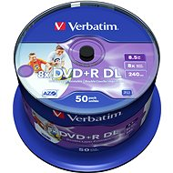 VERBATIM DVD+R DL AZO 8,5GB, 8x, printable, spindle 50 ks - Média