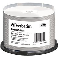 VERBATIM DVD-R DataLifePlus 4.7GB, 16x, printable, waterproof, spindle 50 ks - Média
