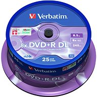 VERBATIM DVD+R DL AZO 8.5GB, 8x, spindle 25 ks - Média