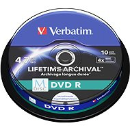 VERBATIM M-DISC DVD-R 4.7GB, 4x, printable, spindle 10 ks - Média