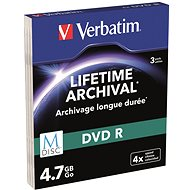 VERBATIM M-DISC DVD-R 4,7GB, 4x, printable, slim case 3 ks - Média