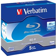 VERBATIM BD-R SL 25GB, 6x, jewel case 5 ks - Média