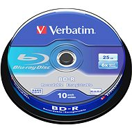 VERBATIM BD-R SL 25GB, 6x, spindle 10 ks - Média