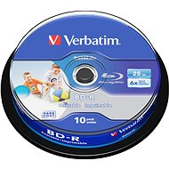 VERBATIM BD-R SL DataLife 25GB, 6x, printable, spindle 10 ks - Média