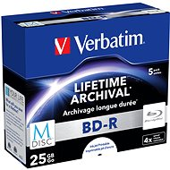 VERBATIM M-DISC BD-R SL 25GB, 4x, printable, jewel case 5 ks - Média