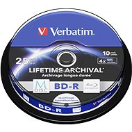 VERBATIM M-DISC BD-R SL 25GB, 4x, printable, spindle 10 ks - Média