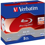 VERBATIM BD-RE SL 25GB, 2x, jewel case 5 ks - Média