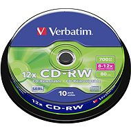 Verbatim CD-RW 10x, 10ks cakebox - Média