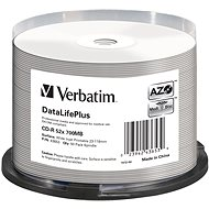 VERBATIM CD-R 80 52x PRINT. Wide Silver Inkjet spindl 50pcs - Media