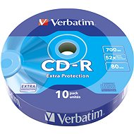 VERBATIM CD-R 700MB, 52x, wrap 10 ks - Média