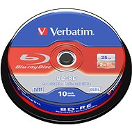 VERBATIM BD-RE SL 25GB, 2x, spindle 10 ks - Média