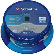 VERBATIM BD-R SL DataLife 25GB, 6x, spindle 25 ks - Média