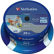 VERBATIM BD-R SL DataLife 25GB, 6x, printable, spindle 25 ks - Média