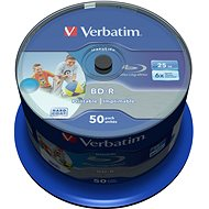 VERBATIM BD-R SL DataLife 25GB, 6x, printable, spindle 50 ks - Média