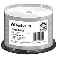 VERBATIM DVD-R DataLifePlus 4.7GB, 16x, printable, spindle 50 ks - Média