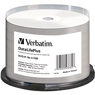 VERBATIM DVD-R DataLifePlus 4.7GB, 16x, silver thermal printable, spindle 50 ks - Média
