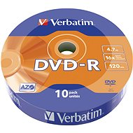 VERBATIM DVD-R AZO 4.7GB, 16x, wrap 10 ks