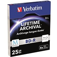 VERBATIM M-DISC BD-R SL 25GB, 4x slim case 3 ks - Média