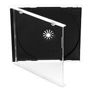 Krabička na 1ks - černá,10ks/bal - Obal na CD/DVD