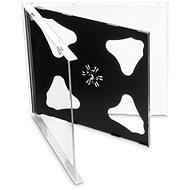 Krabička na 2ks - černá, 10mm, 10ks/bal - Obal na CD/DVD