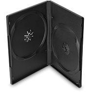 Krabička na 2ks, černá, 14mm,10ks/bal - Obal na CD/DVD