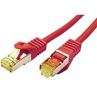 OEM S/FTP patchkabel Cat 7, s konektory RJ45, LSOH, 1m, červený - Síťový kabel