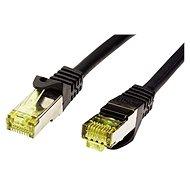 OEM S/FTP patchkabel Cat 7, s konektory RJ45, LSOH, 1m, černý - Síťový kabel