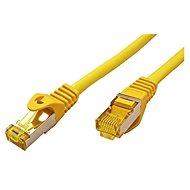 OEM S/FTP patchkabel Cat 7, s konektory RJ45, LSOH, 0.25m, žlutý - Síťový kabel