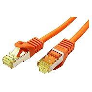 OEM S/FTP patchkabel Cat 7, s konektory RJ45, LSOH, 1m, oranžový - Síťový kabel