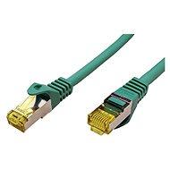 OEM S/FTP patchkabel Cat 7, s konektory RJ45, LSOH, 2m, zelený - Síťový kabel