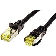 OEM S/FTP patchkabel Cat 7, s konektory RJ45, LSOH, 10m, černý - Síťový kabel