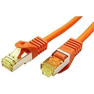 OEM S/FTP patchkabel Cat 7, s konektory RJ45, LSOH, 0.25m, oranžový - Síťový kabel