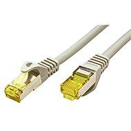 OEM S/FTP patchkabel Cat 7, s konektory RJ45, LSOH, 0.25m, šedý - Síťový kabel