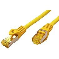 OEM S/FTP patchkabel Cat 7, s konektory RJ45, LSOH, 0.5m, žlutý - Síťový kabel