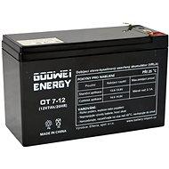 GOOWEI ENERGY OT7-12, 12V, 7Ah
