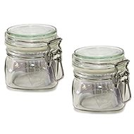 GOTHIKA 300ml Glass Jars with Lids 6pcs - Container