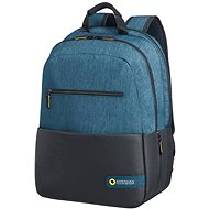 "American Tourister CITY DRIFT LAPTOP BACKPACK 15.6"" BLACK/BLUE - Batoh na notebook"