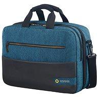 "American Tourister CITY DRIFT 3-WAY BOARDING BAG 15.6"" BLACK/BLUE - Brašna na notebook"