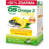 GS Omega 3 Citrus ČR/SK, 100 + 50 Capsules - Omega 3