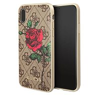 Guess 4G Flower Desire pro Apple ipHone X Brown - Ochranný kryt