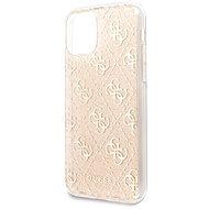 Guess 4G Glitter Zadní Kryt pro iPhone 11 Gold  - Kryt na mobil