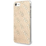 Guess Glitter 4G Solid pro iPhone 8/SE 2020 Gold - Kryt na mobil