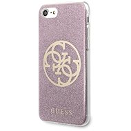 Guess Glitter 4G Circle pro iPhone 8/SE 2020 Pink - Kryt na mobil