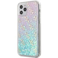 Guess 4G Liquid Glitter pro Apple iPhone 12/12 Pro Iridescent - Kryt na mobil