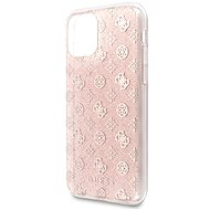 Guess 4G Peony Glitter pro iPhone 11 Pro Max Pink (EU Blister) - Kryt na mobil